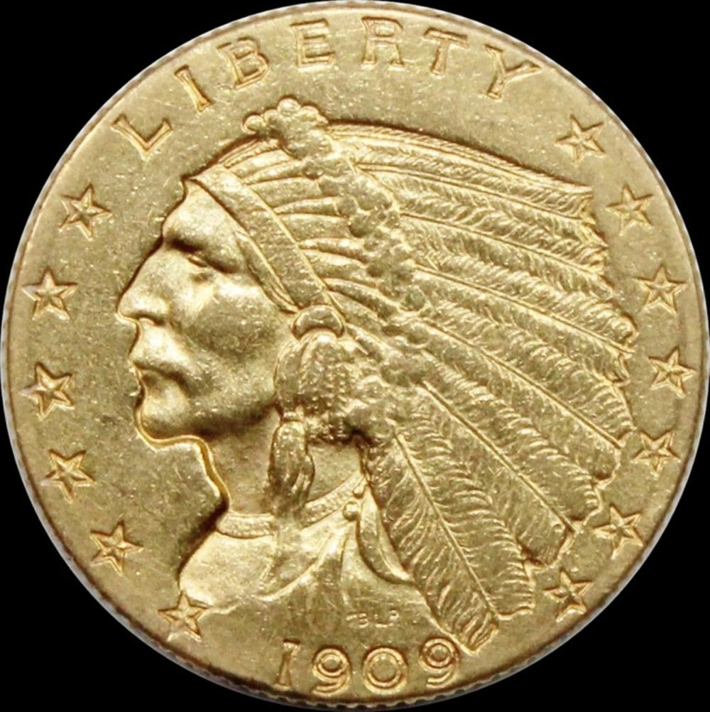 1909 $2.50 INDIAN GOLD