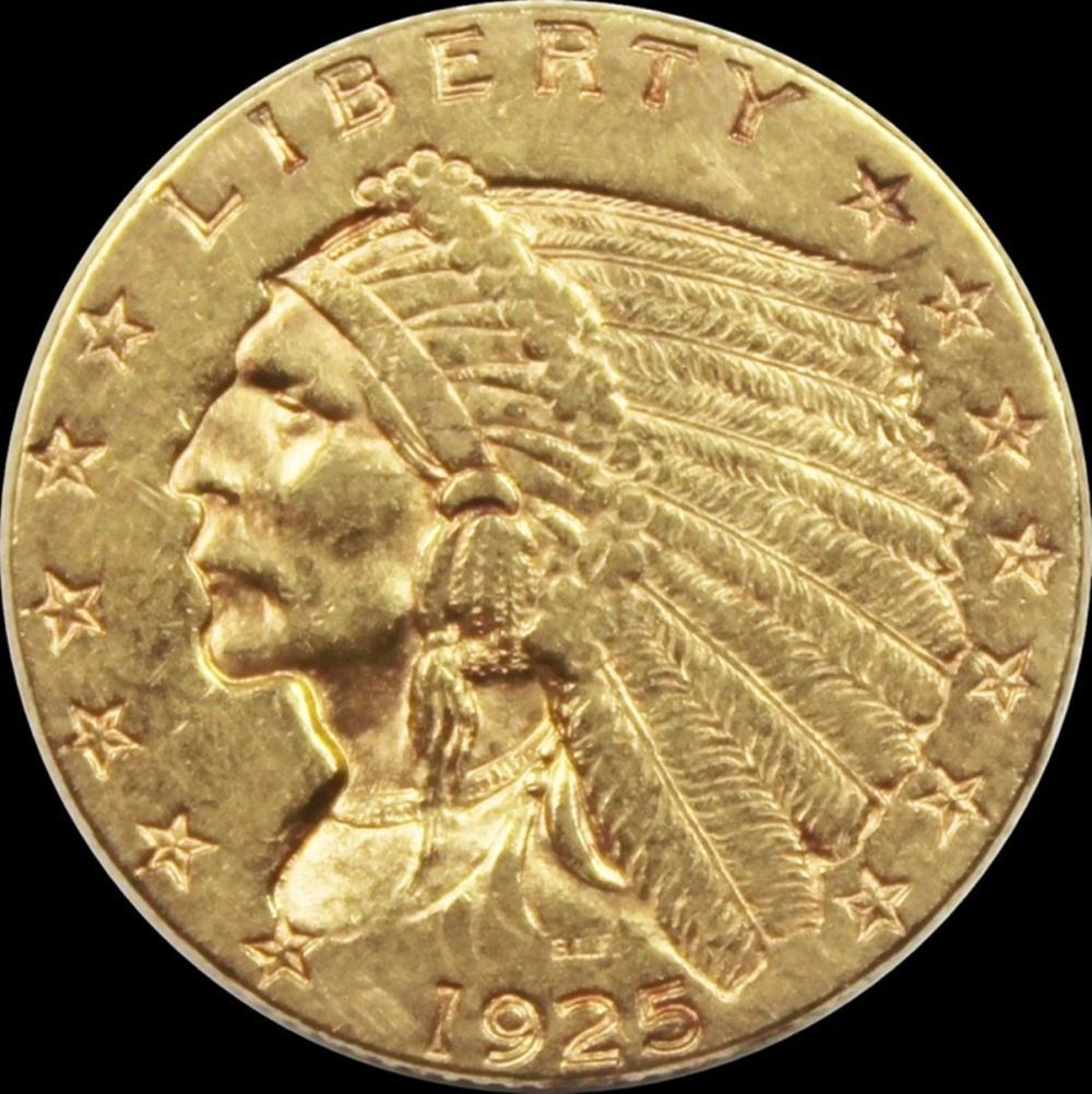1925-D $2.50 GOLD INDIAN