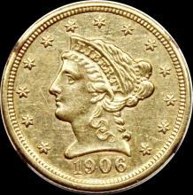 Lot 137: 1906 $2.50 GOLD LIBERTY
