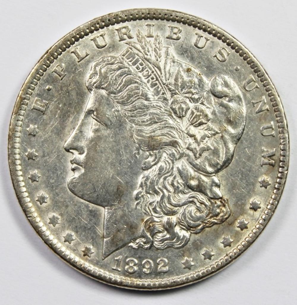 1892 MORGAN SILVER DOLLAR