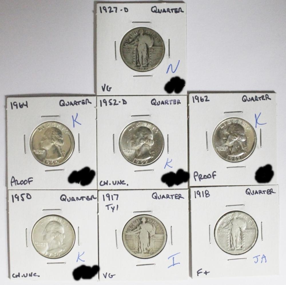 QUARTER LOT - 7 COINS TOTAL