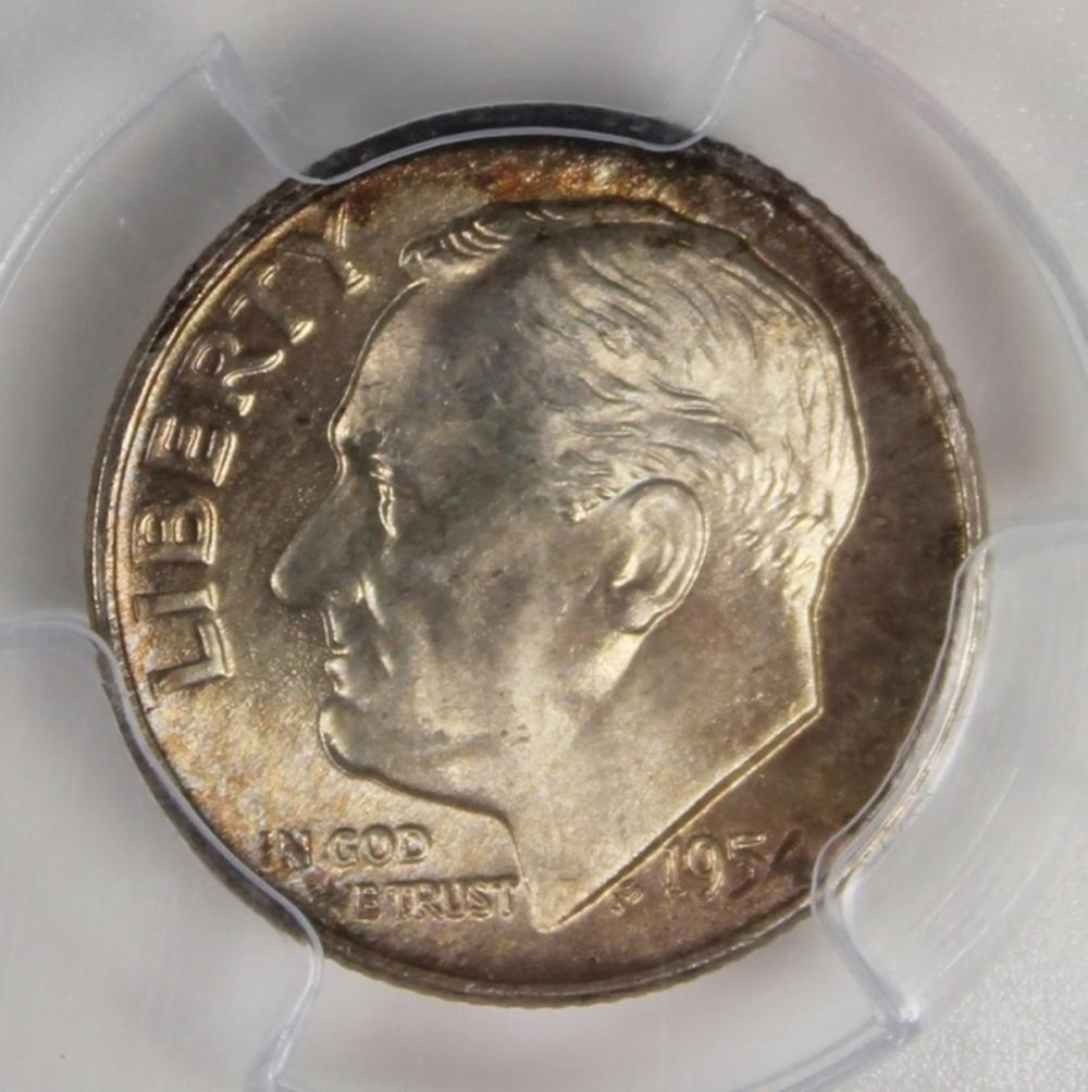 1954-D ROOSEVELT DIME PCGS MS 67