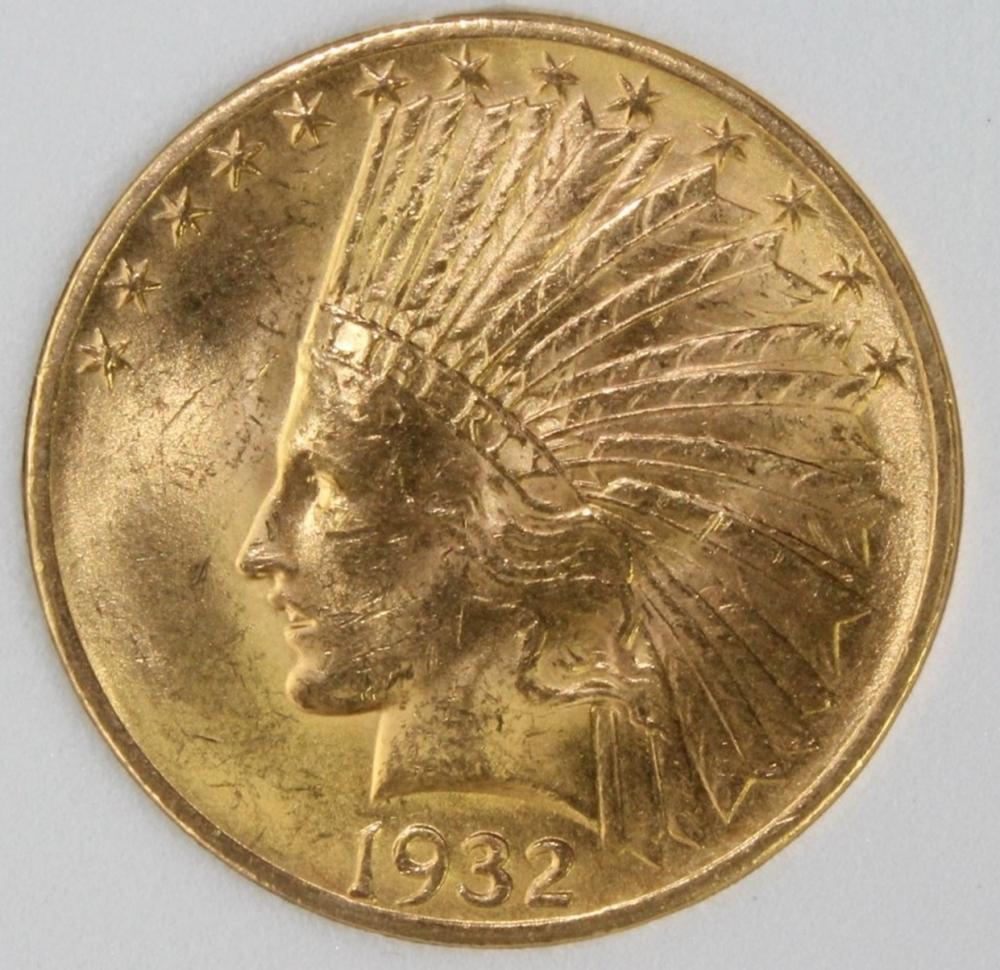 1932 $10.00 INDAIN GOLD