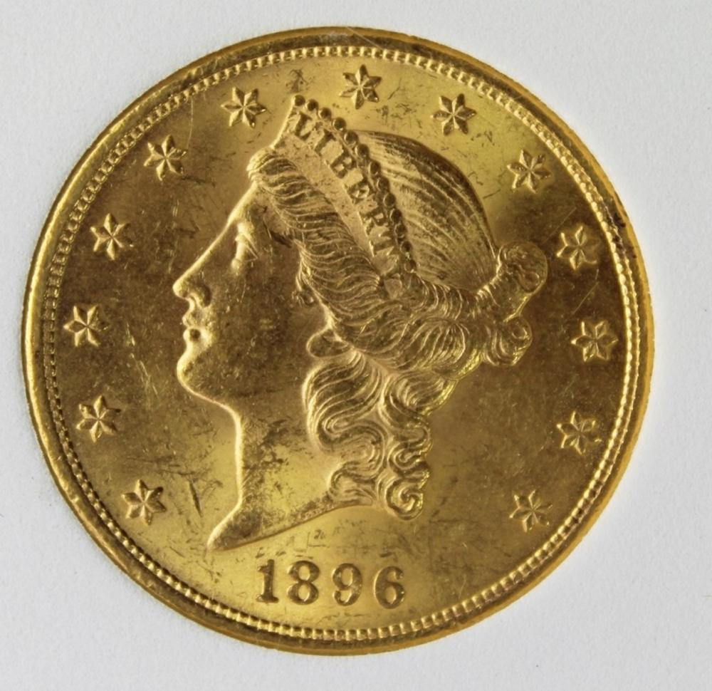 1896 $20 GOLD LIBERTY