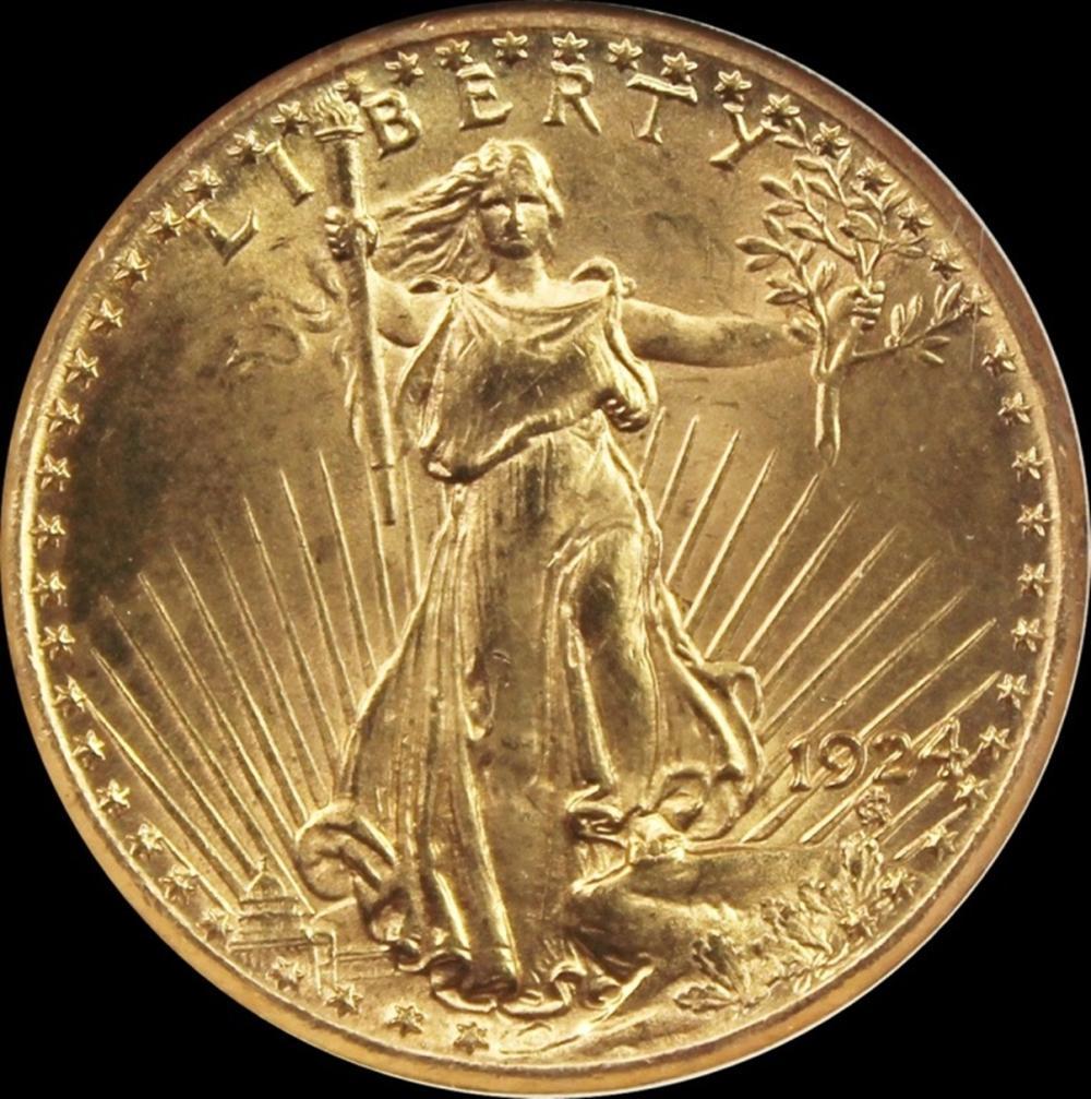 1924 $20 ST. GAUDEN'S GOLD