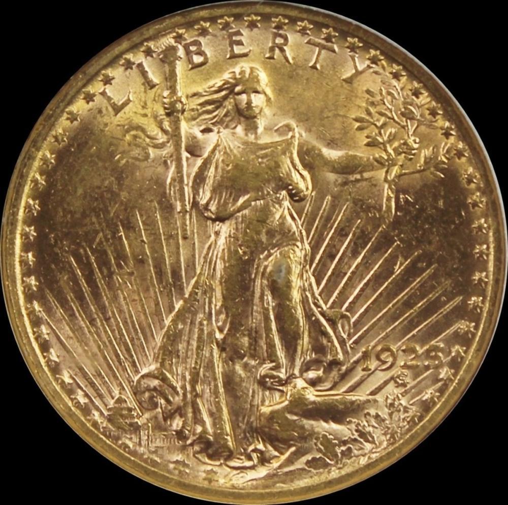 1923 $20 ST. GAUDEN'S GOLD