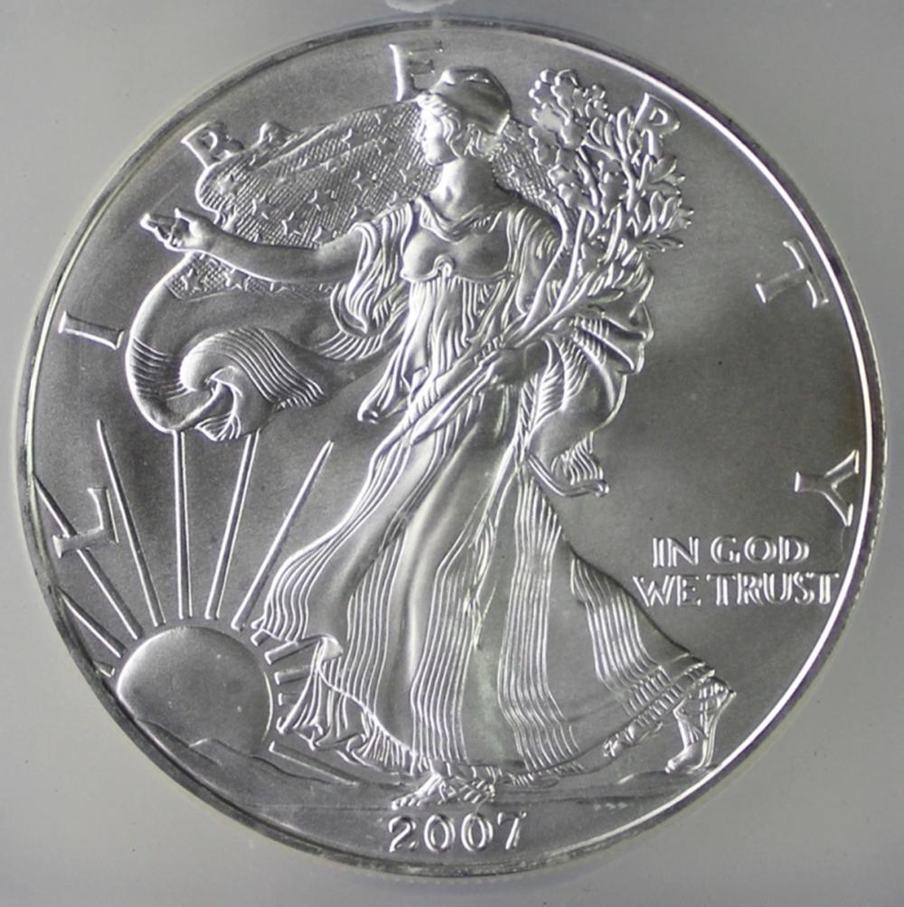 2007 AMERICAN SILVER EAGLE
