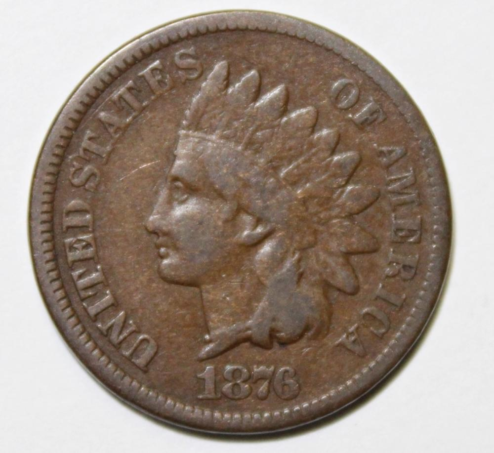 1876 INDIAN CENT