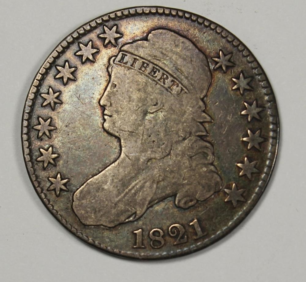 1821 BUST HALF DOLLAR VG