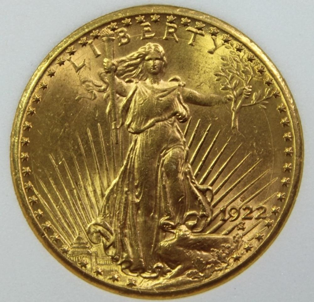 1922-S $20 GOLD