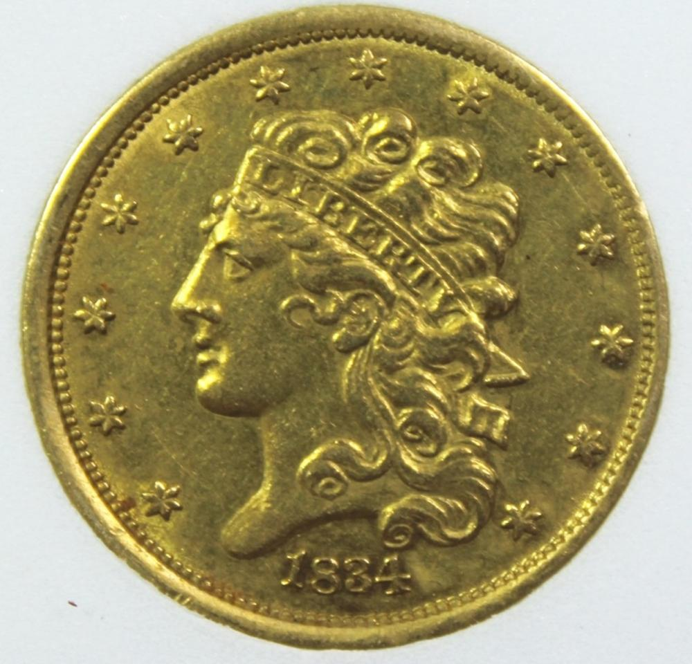 1834 $5 CLASSIC HEAD GOLD