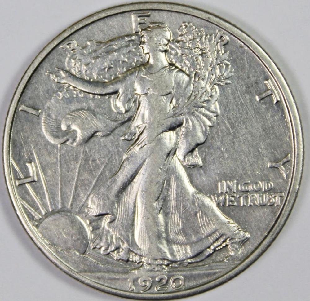 1920-D WALKING LIBERTY HALF DOLLAR