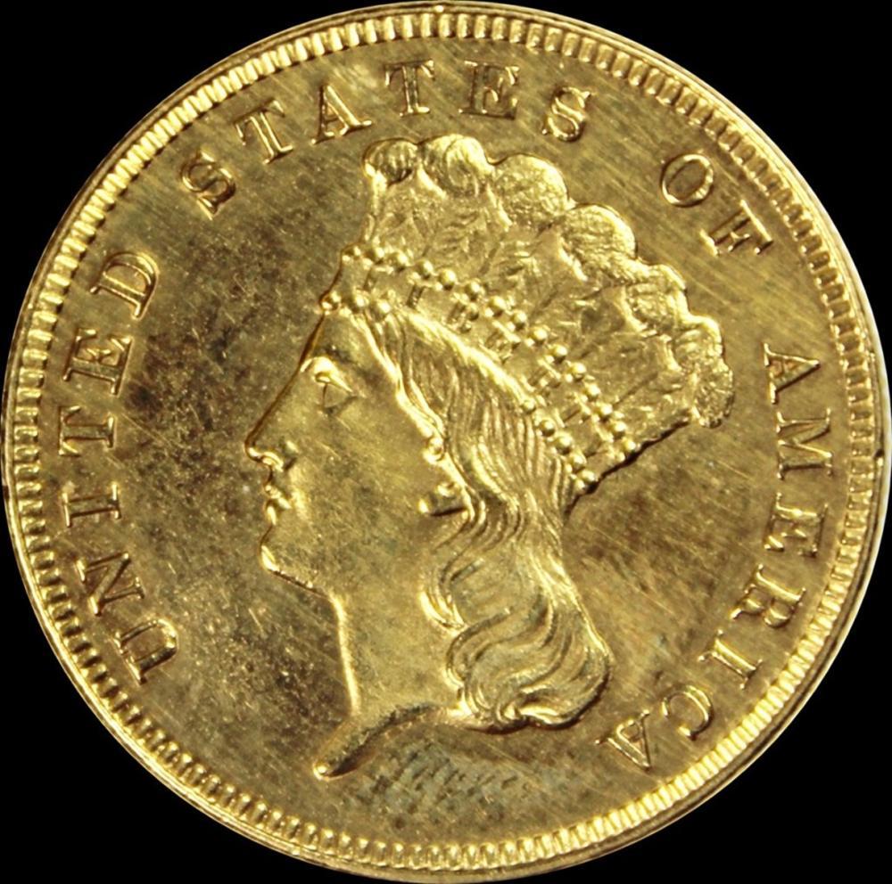 1867 $3.00 GOLD