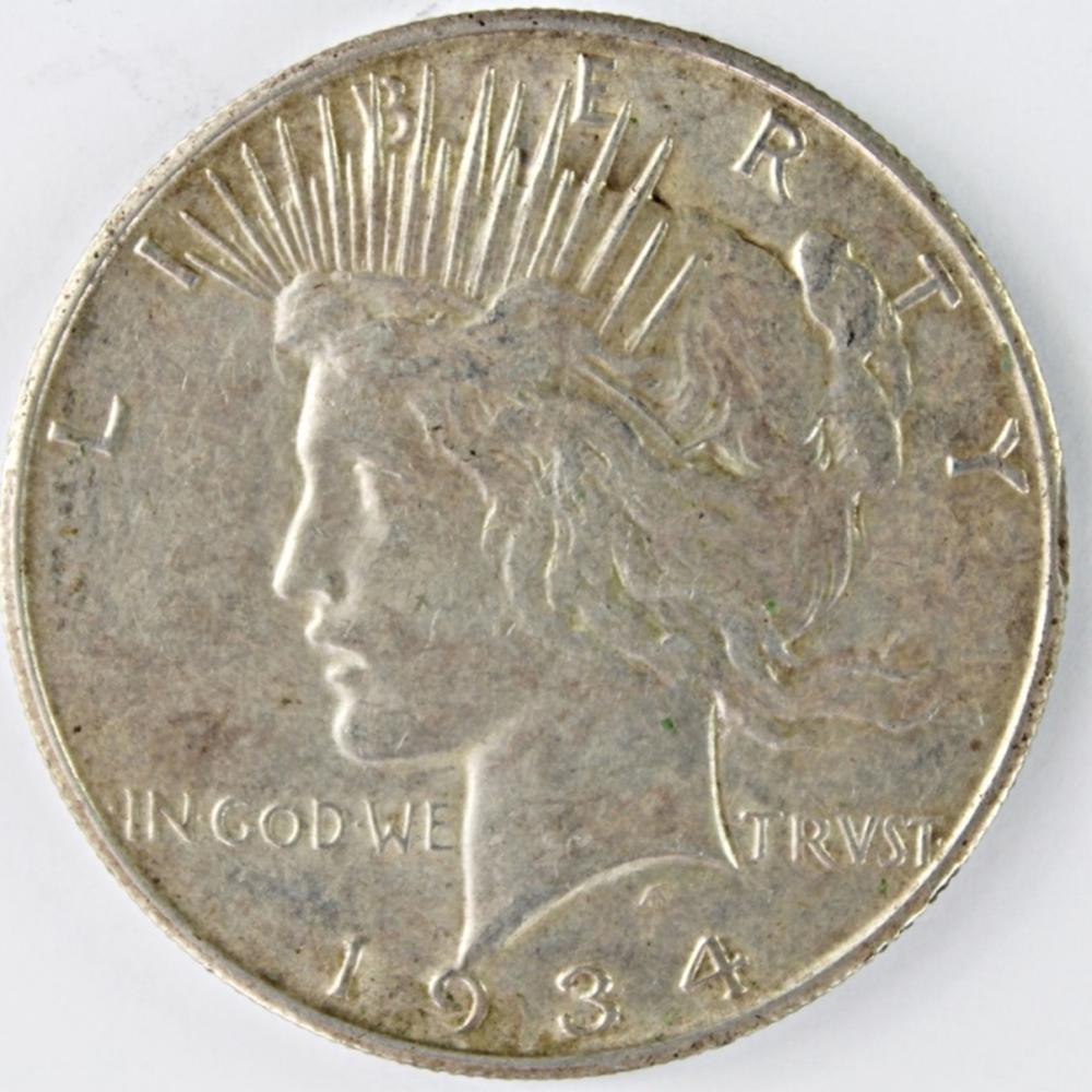 1934-S PEACE SILVER DOLLAR
