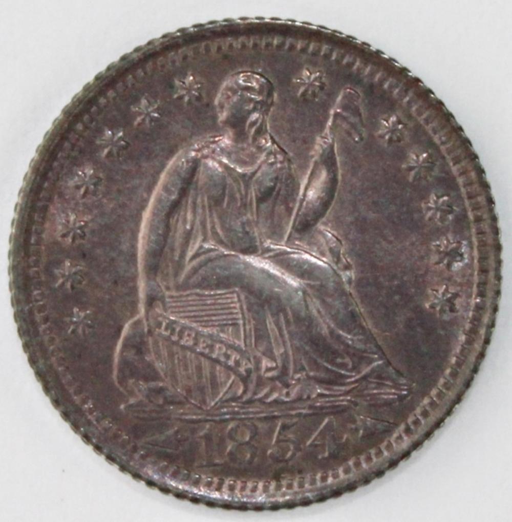 1854 ARROWS HALF DIME