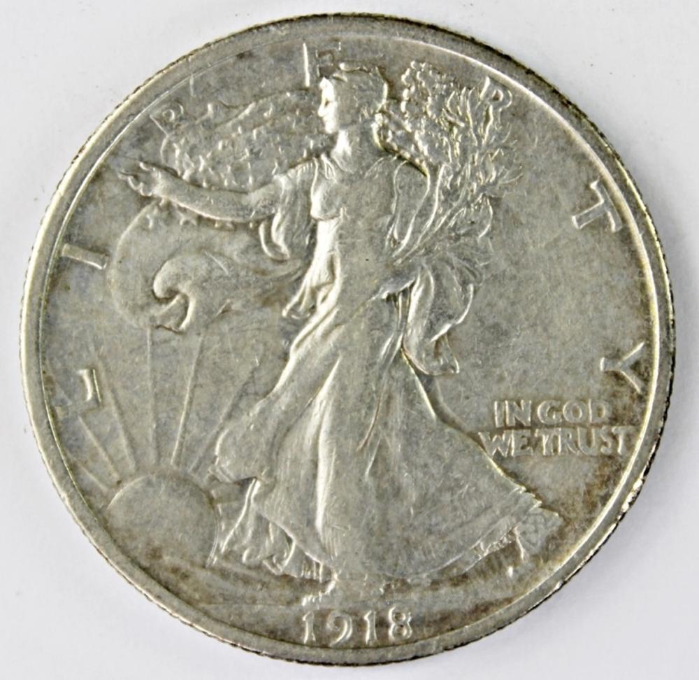 1918 WALKING LIBERTY HALF DOLLAR