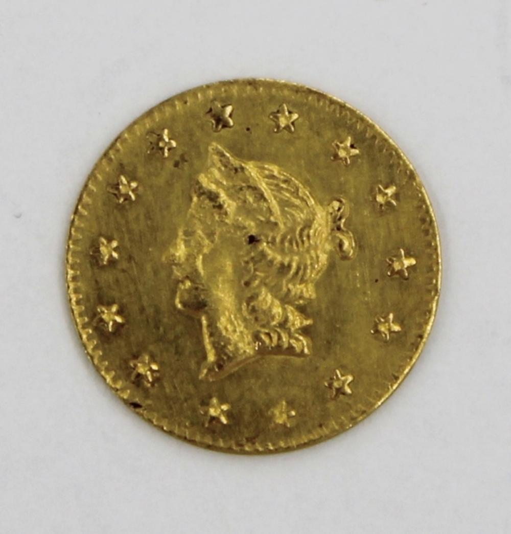 1854 CALIFORNIA GOLD HALF DOLLAR
