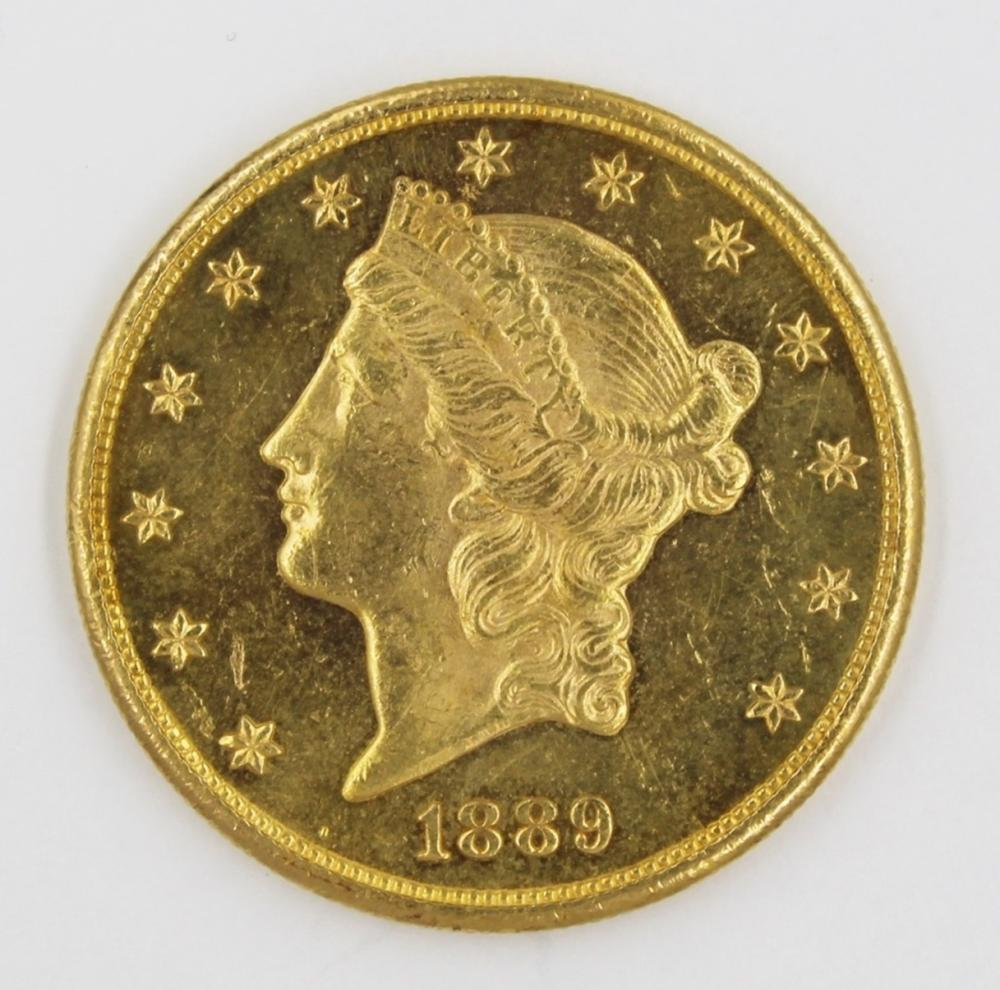 1889-S $20 GOLD LIBERTY