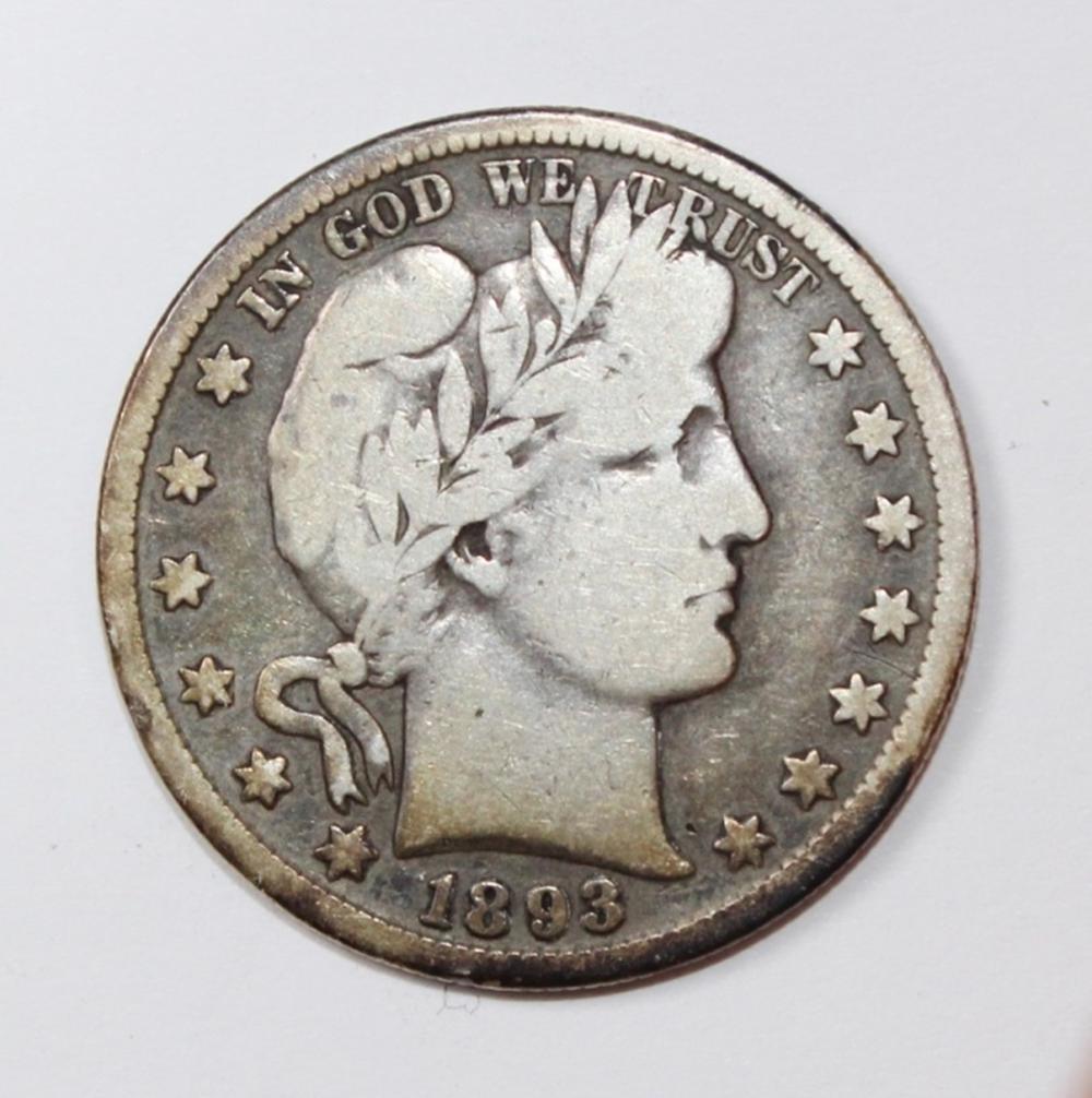 1893-S BARBER HALF DOLLAR