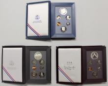 Lot 4: PRESTIGE SETS: 1987, 1988, AND 1989