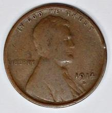 Lot 22: 1914-D LINCOLN CENT