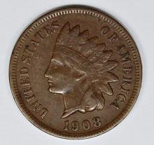 Lot 21: 1908-S INDIAN CENT