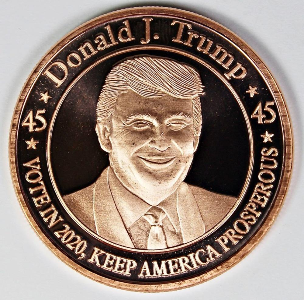 Lot 15: 40 PCS DONALD TRUMP COPPER ROUNDS