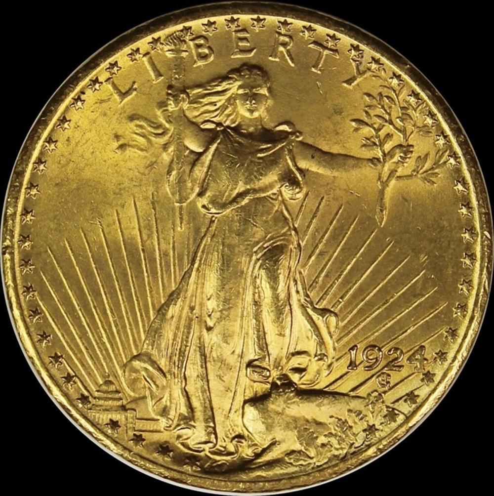 1924 $20.00 ST. GAUDENS GOLD