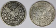 Lot 25: 1904 AND 1899-S MORGAN SILVER DOLLARS