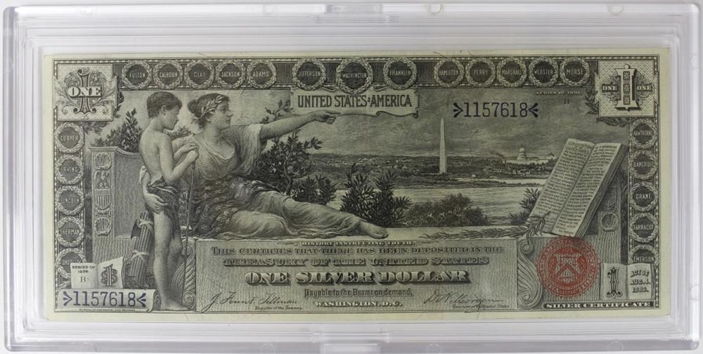 """1896 $1.00 SILVER CERT """"EDUCATIONAL"""" NOTE"""