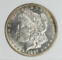 Lot 29: 1887-O MORGAN SILVER DOLLAR