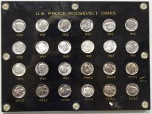 Lot 35: ROOSEVELT DIME SET: 1950-1964