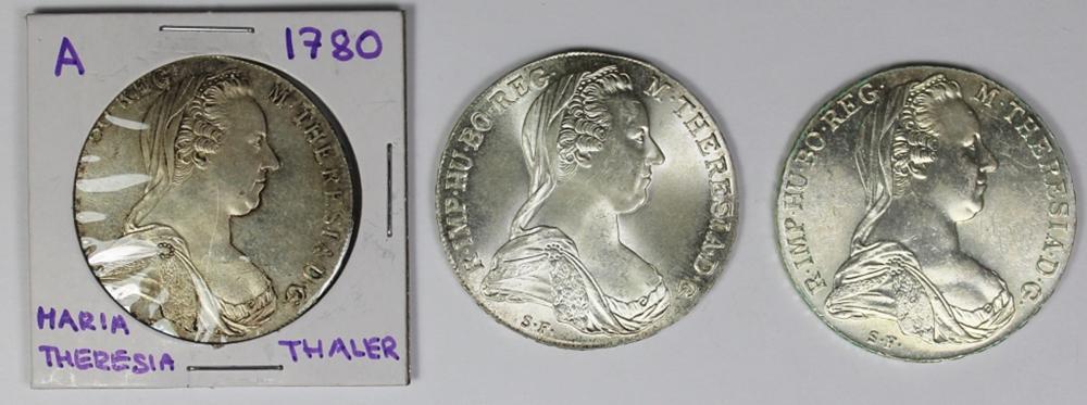 THREE 1790 MARIA THERESA THALERS