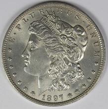 Lot 46: 1897-O MORGAN DOLLAR BGC GRADED GEM BU!