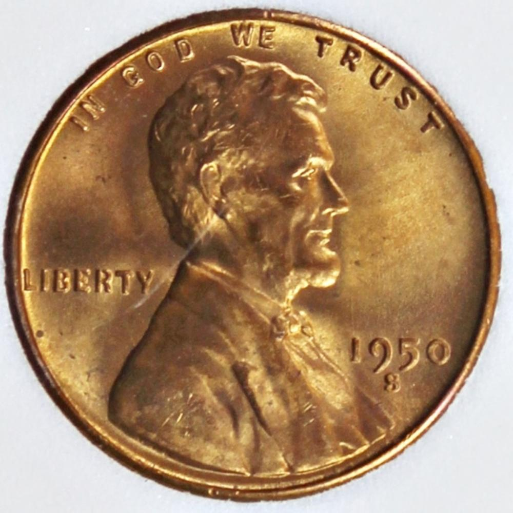 1950-S LINCOLN CENT
