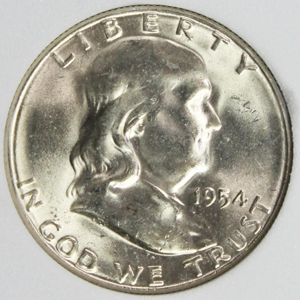 Lot 58: 1954-S FRANKLIN HALF DOLLAR