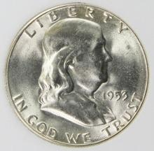 Lot 59: 1953-S FRANKLIN HALF DOLLAR