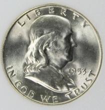 Lot 60: 1953-D FRANKLIN HALF DOLLAR