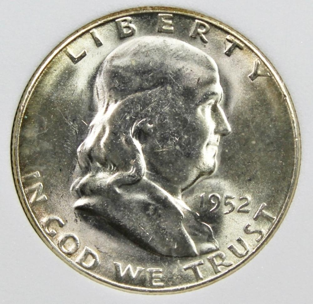 Lot 63: 1952-S FRANKLIN HALF DOLLAR