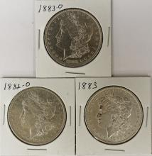 Lot 78: (3) MORGAN SILVER DOLLARS