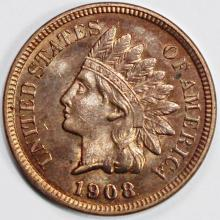 Lot 74: 1908 INDIAN CENT