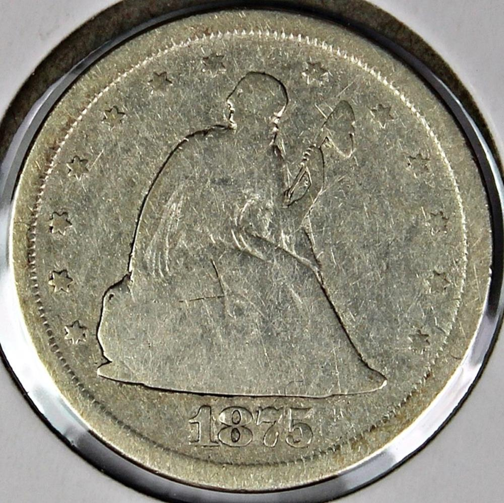 Lot 90: 1875-S TWENTY CENT PIECE