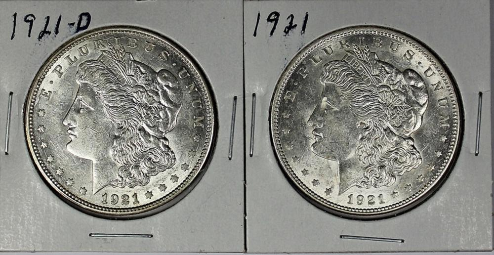 Lot 84: (2) MORGAN SILVER DOLLARS