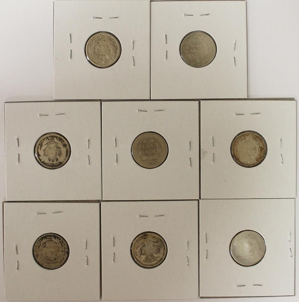 Lot 98: (8) LIBERTY SEATED DIMES