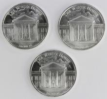 Lot 104: 3-- 1 OZ DONALD TRUMP SILVER ROUNDS