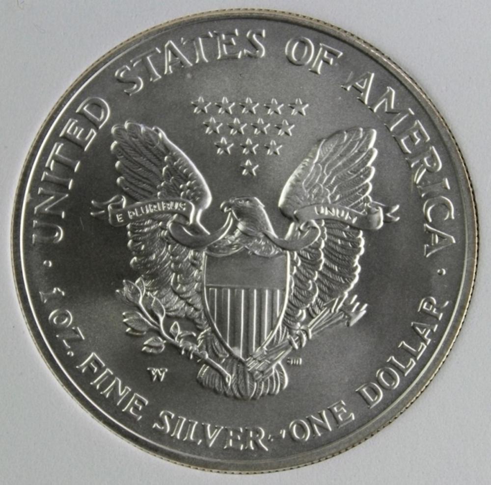 Lot 107: 2007-W AMERICAN SILVER EAGLE