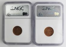 Lot 109: TWO 1936-S LINCOLN CENTS