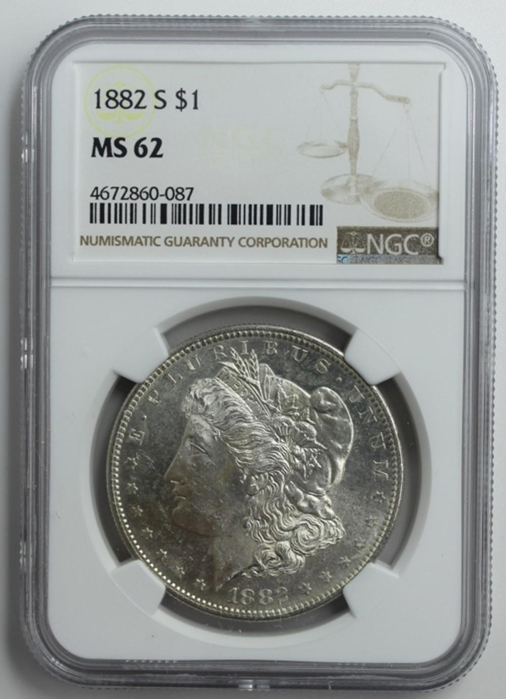 Lot 116: 1882-S MORGAN SILVER DOLLAR