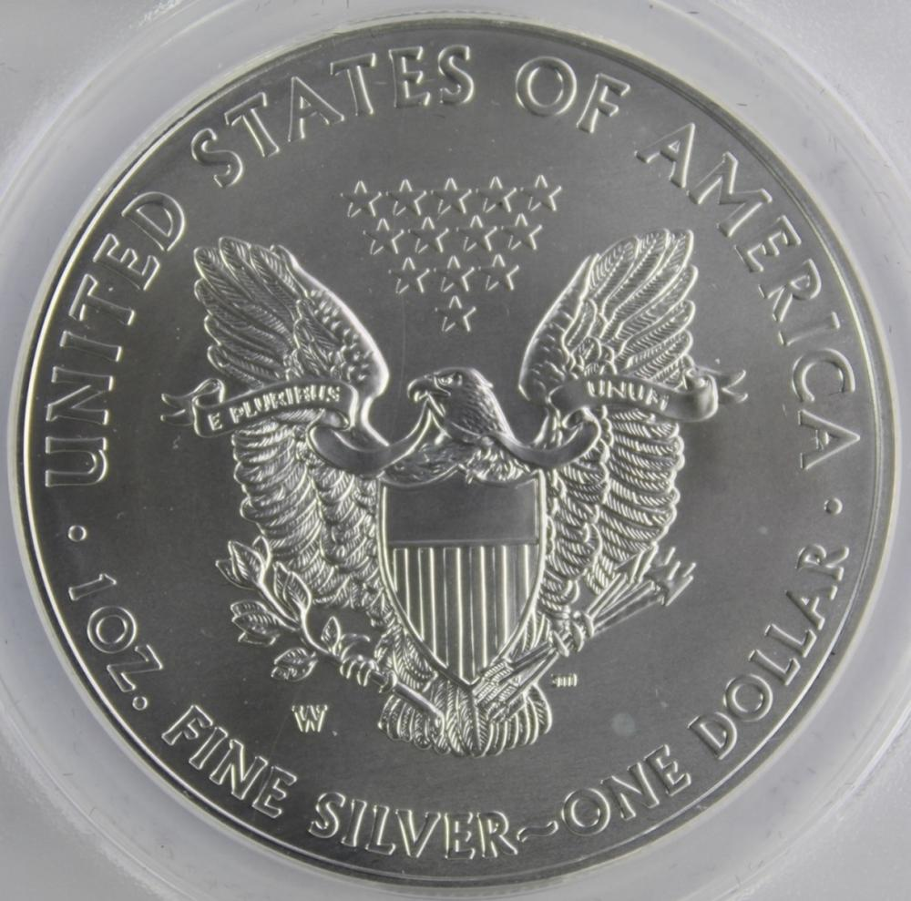 Lot 130: 2012-W AMERICAN SILVER EAGLE