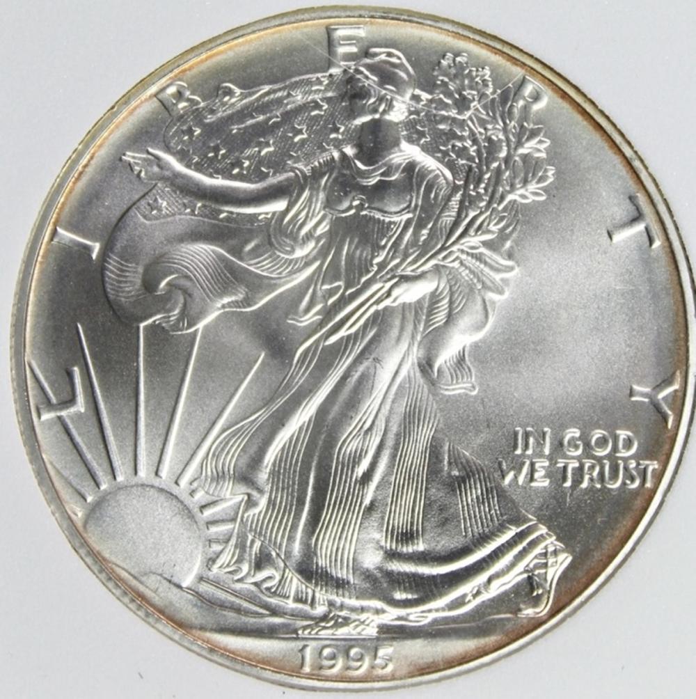 Lot 127: 1995 AMERICAN SILVER EAGLE